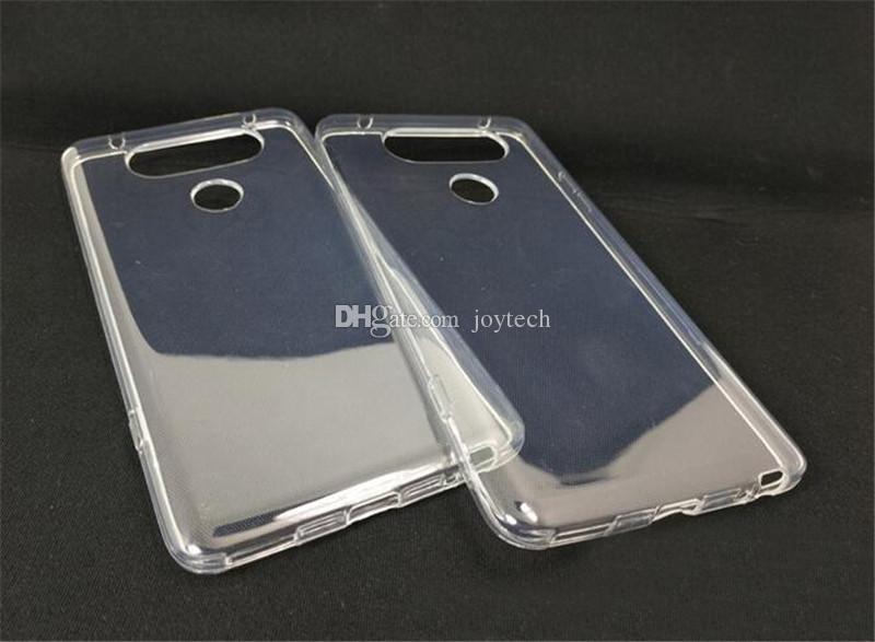 Super souple cas TPU transparent pour lg v20 v10 Slim Crystal Back Protect
