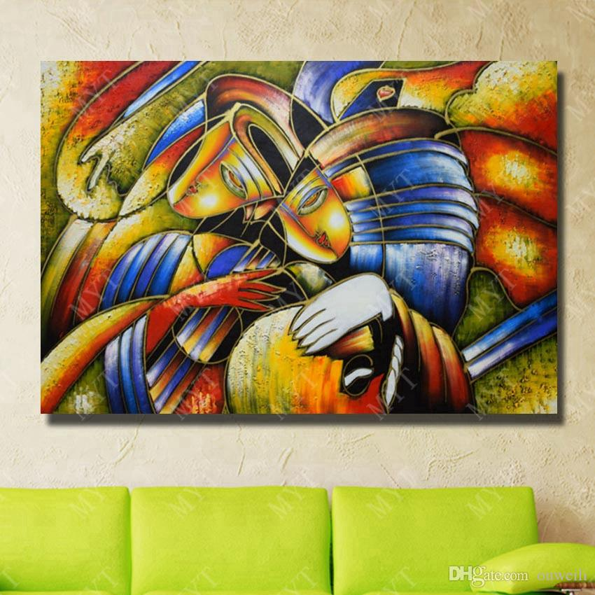 Top quality modern abstract painting canvas art home goods decor large size wall art for restaurant