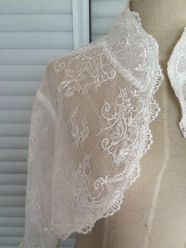 High Quality Wedding Bridal Wraps Jackets With Illusion 3/4 Long Sleeves Cheap Custom Wedding Bolero Wraps