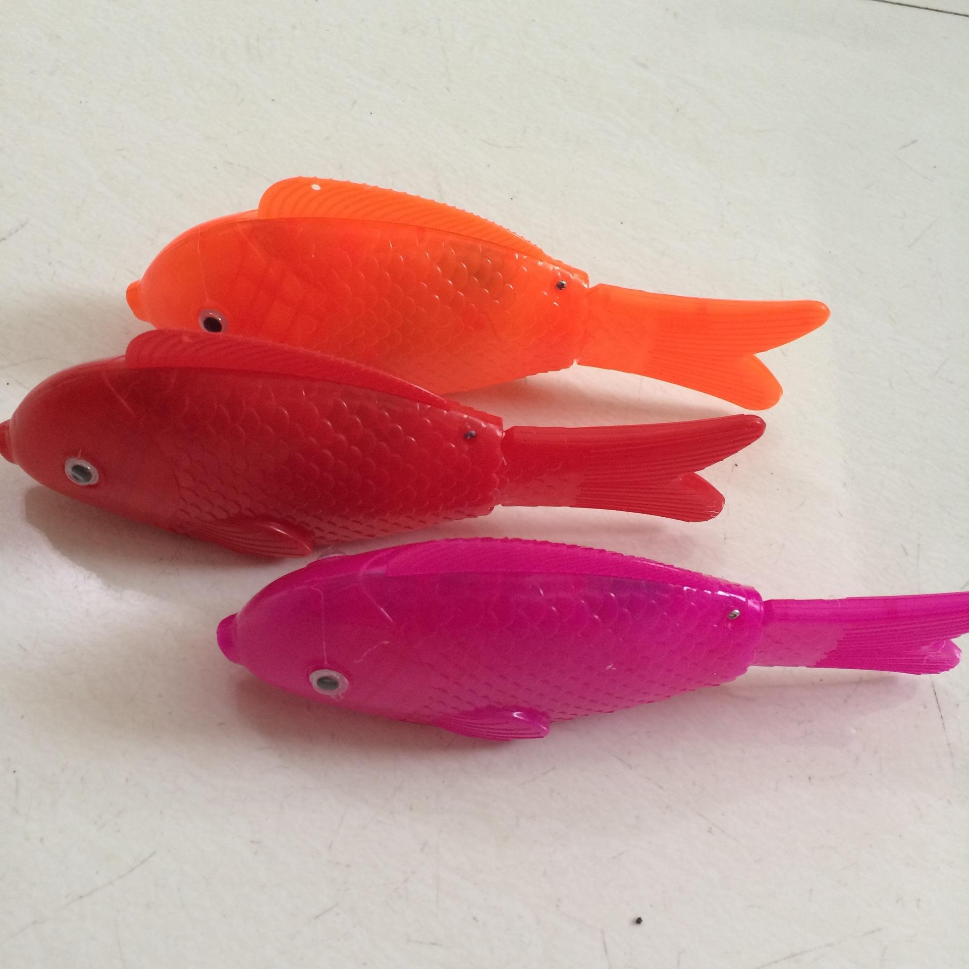 Electric light fish color flash with music swing free fish children light emitting toys wholesale supply
