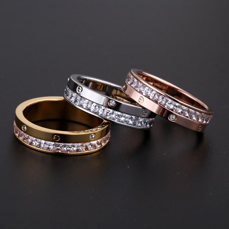 Wholesale fashion jewelry trade and diamond ring half full diamond ring