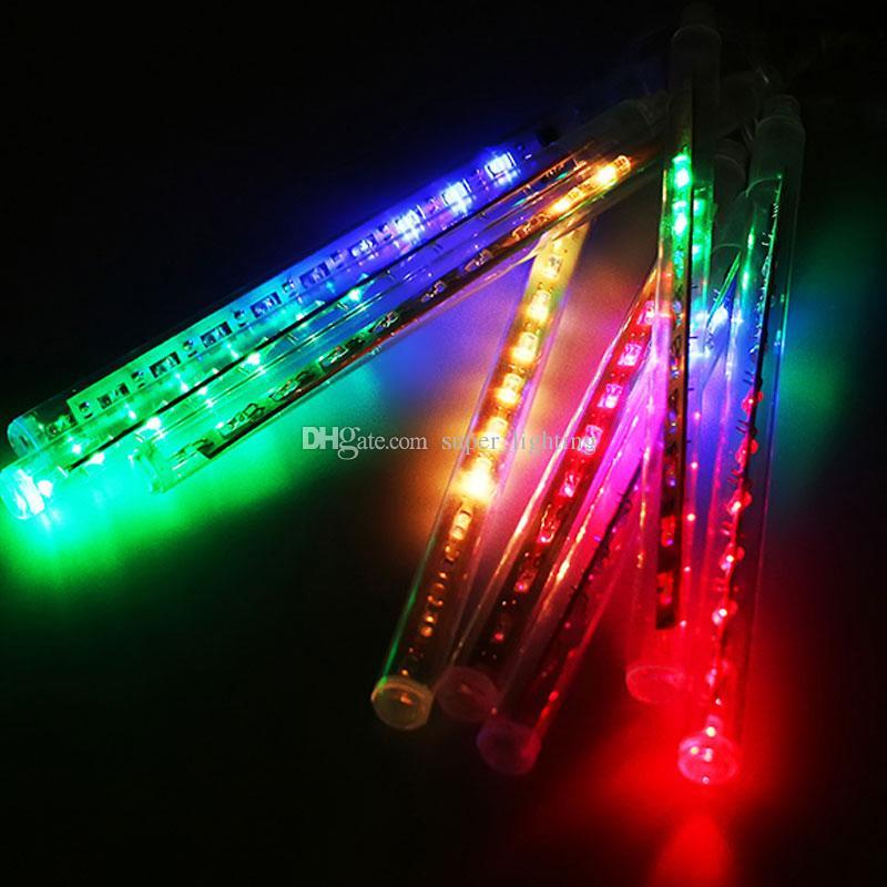 20 cm 8 teile / satz Meteorschauer Regen Leuchtet Leuchtet Weihnachten Licht Wasserdichte Schneefall Regen Meteorschauer Licht