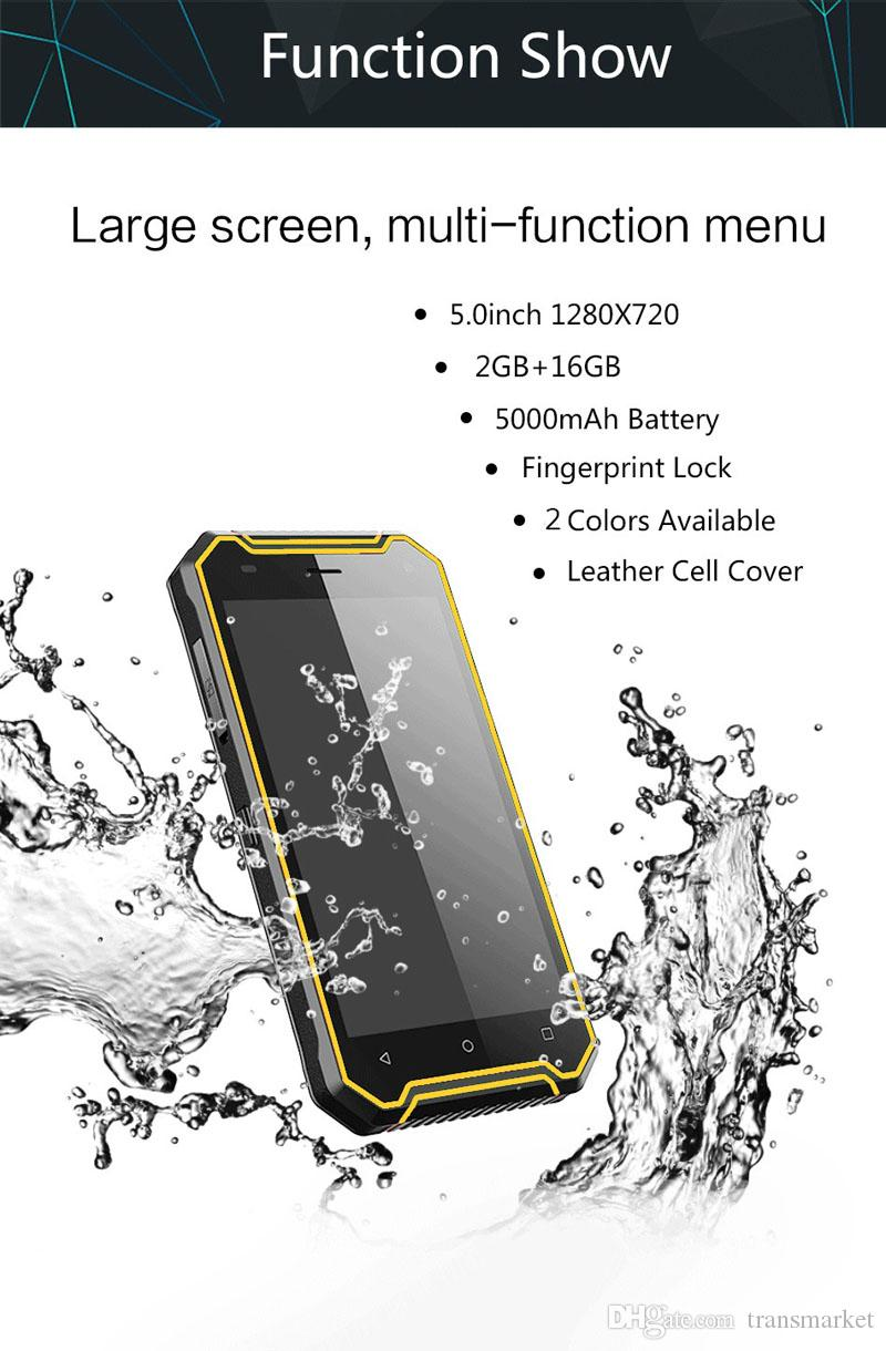 """Original P8 Phone 5.0"""" IP68 MT6737 Quad Core Proofwater Proofdust Shockproof Android7.0 3G GPS 2GBRAM 16GBROM 4G LTE Waterproof SmartPhone"""