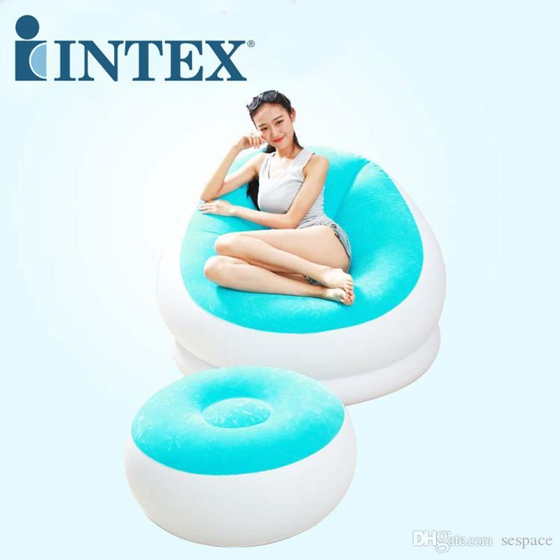Wholesale INTEX Flocked Pvc Inflatable Air Sofa 68572 Lounge Chair