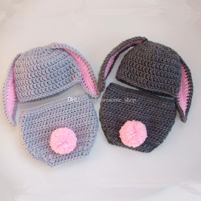 Großhandel Schöne Neugeborenen Osterhase Kostüm Handgemachte