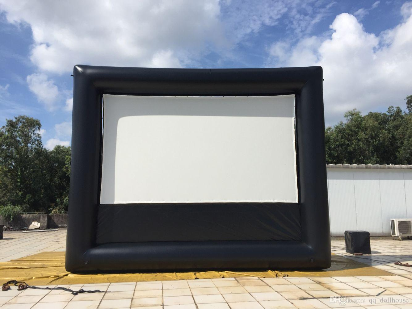 air ads 9x5 ft inflatable movie screen no wrinkle screen fabric