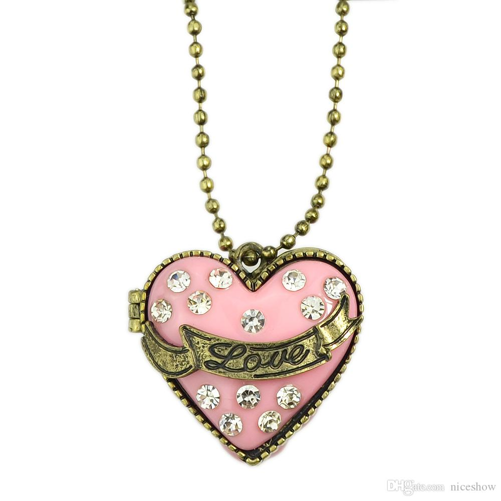 Hot sale long necklaces jewelry openable heart box with rhinestone hot sale long necklaces jewelry openable heart box with rhinestone hip hop jewelry design openable heart pendant necklace for women pink heart necklaces aloadofball Gallery