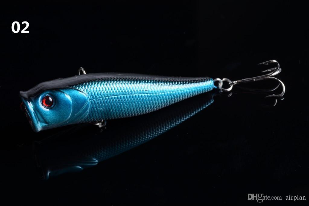 di aprire il grande bocca falso esche da pesca hard artificiale Popper pesca dell'esca Accessori Pesca Attrezzatura da pesca Ganci