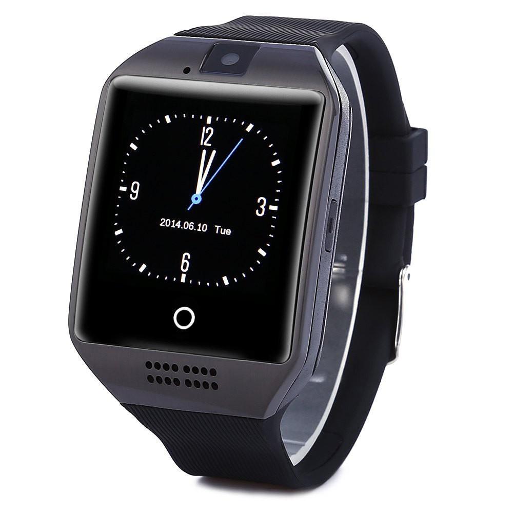 11fc4155010 Compre Q18 Relógios Inteligentes Bluetooth Smartwatch Relógio De Pulso Com  Câmera Tf Sim Card Slot   Pedômetro   Anti Lost   Para Telefones Android De  Maçã ...