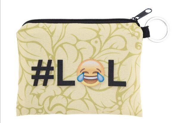 29 Styles Children cute small Cartoon expression emoji Wallet Zipper Case Coin change Purse Pouch mini bag goodfaithgirl Free shippng