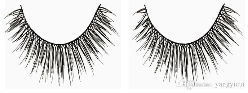 5 пар/компл. накладные ресницы толстые перекрестными крылатые природные длинные конические хлопок стебель черный полная полоса длинные ресницы с оригинальной коробке