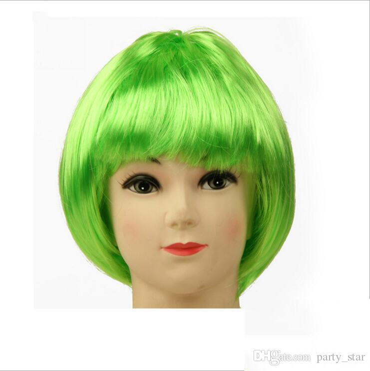 Party Universal Fashion Student Cosplay Color Wig Graduation Bar Club Performance Color Wig Decoration Short Color Wig Allowed
