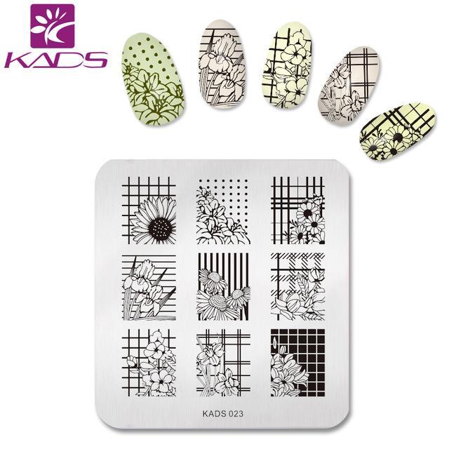 Wholesale Kads New Fashion Charming Flower Print Sencil Nail Art ...