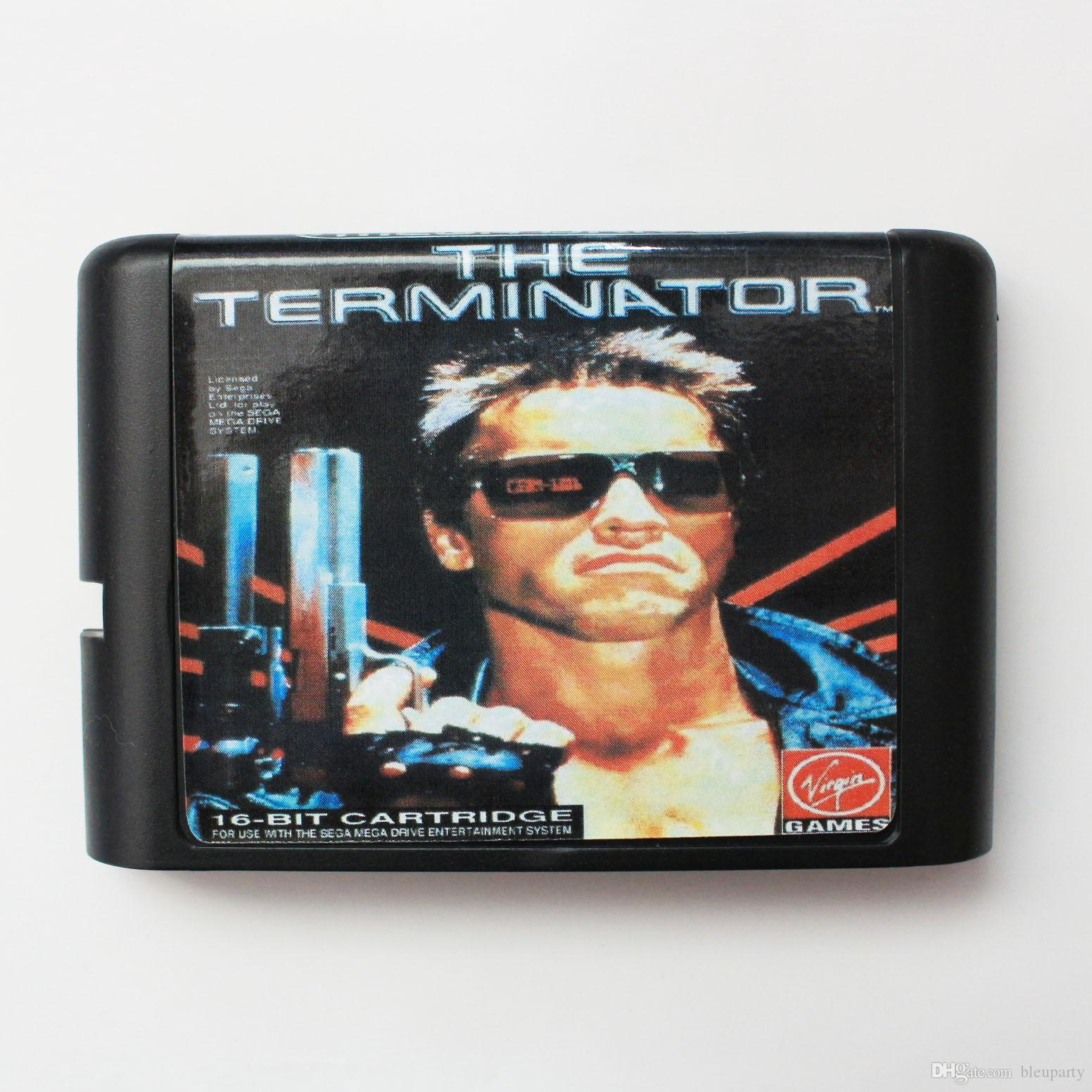 terminator 16 bit game cart newest game cartridge for sega mega