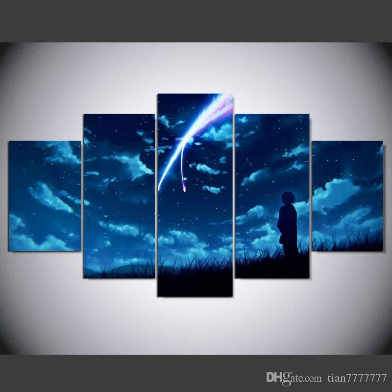 New Anime Your Name Canvas Print Painting No frame Wall Art Pictures Home decor Room Poster Unique Gift