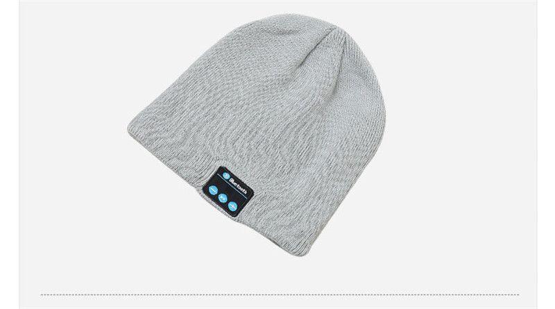 Bluetooth Hat Música Beanie Cap Bluetooth V4.1 fone de ouvido estéreo sem fio Microfone Handsfree For All entregas Hat Música