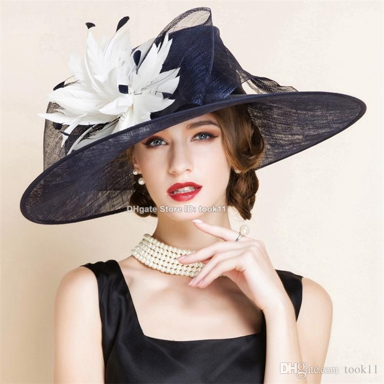 Ladies Fashion Hut: Fashion Fedora Feather Kentucky Derby Hats For Tea Party