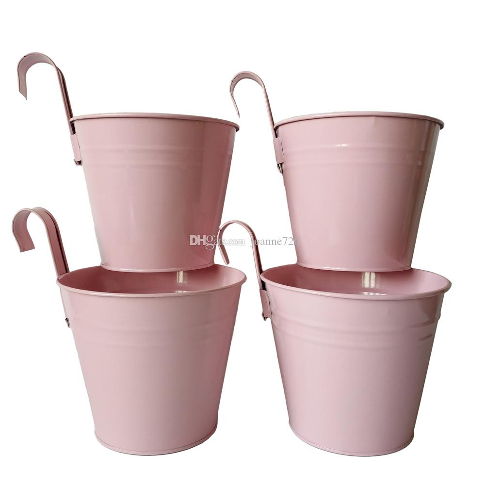 Pink Garden Planters: 2018 Pink Color Metal Planter Pot Garden Hanging Planter
