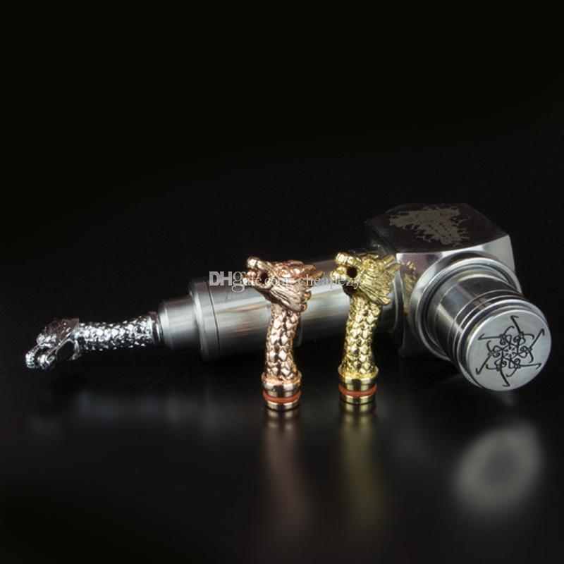 Metal Dragon Drip Tips Dragon Drip tip with a pearl on mouth high quality Metal 510 Mouthpiece fit Atomizers DHL Free