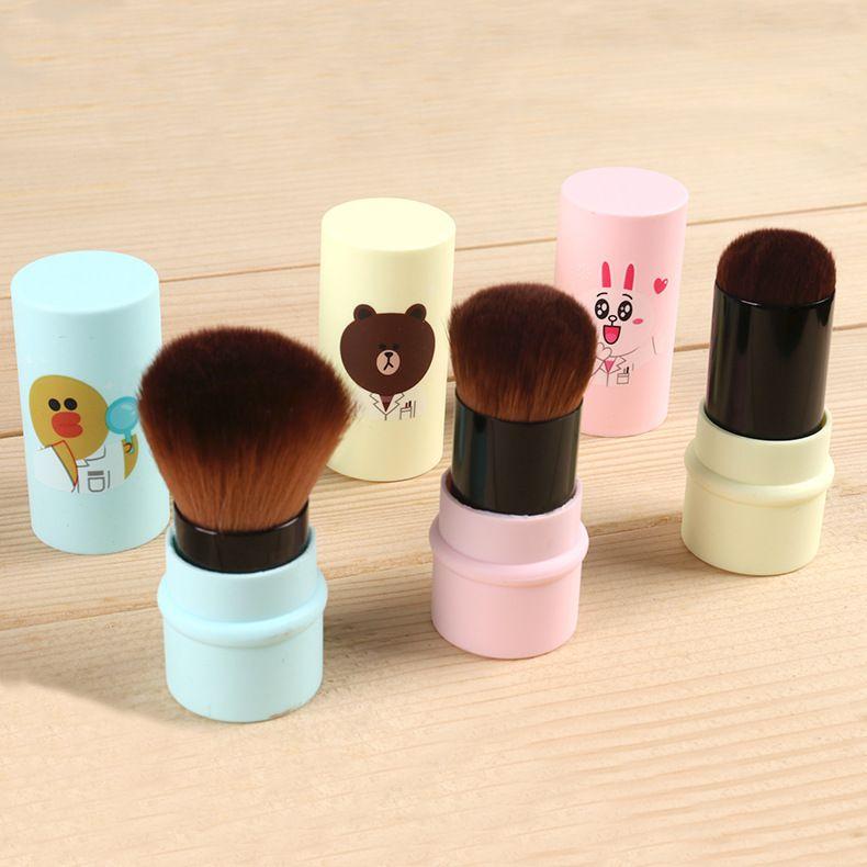 es Hello Kitty Brush Face Foundation Powder Brushes Cosmetic Cute Cartoon Yellow Duck Brush Pincel de maquillaje Herramientas de maquillaje Protable