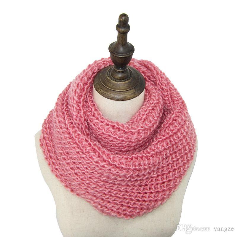 Jul varm försäljning 2016 ny mode stil unisex vinter stickade halsdukar ull krage nacke varmare män virka ringen spanien loop scarf