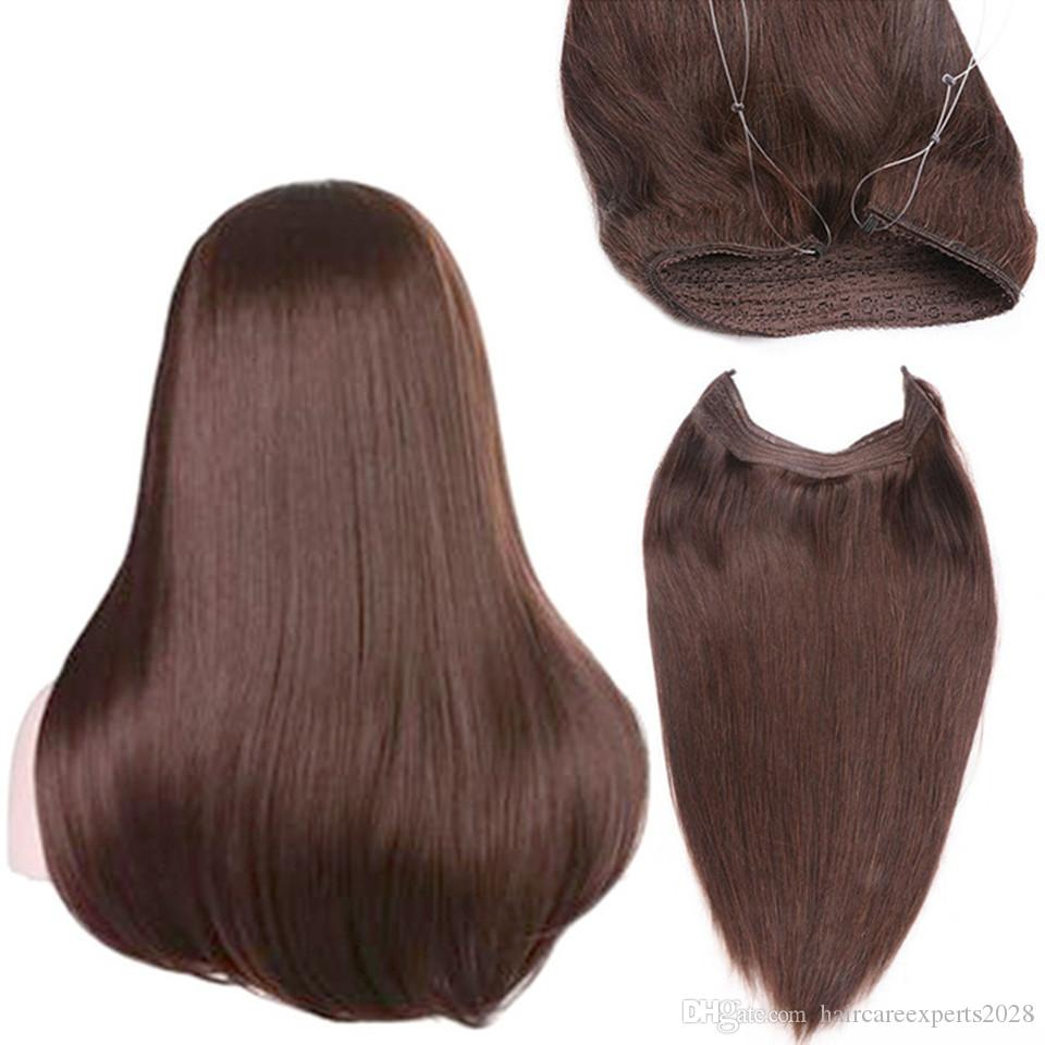 Invisible wire headband hair extensions 100g unprocessed brazilian invisible wire headband hair extensions 100g unprocessed brazilian virgin straight halo human hair hairpieces fish in hair weave best hair weave best hair pmusecretfo Image collections