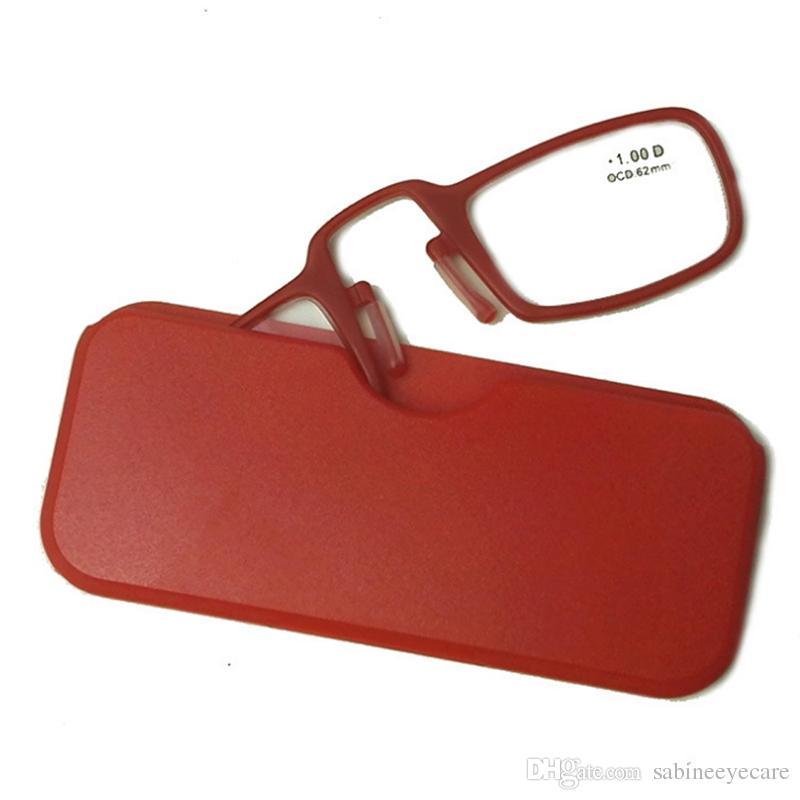 Occhiali da lettura occhiali da vista con portafogli naso unisex, Custodia occhiali da lettura con clip Naso TR90 + 1.0 + 1.5 + 2.0 + 2.5 + 3.0 + 3.5