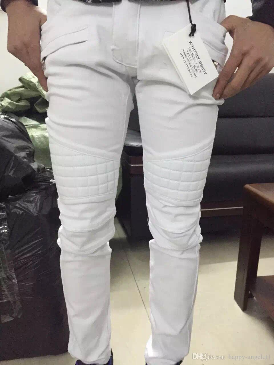 781923c037d sale men NWT BP Men s Stylish Fashion Stretch Slim White Washed Biker Jeans  Size 28-40 0942