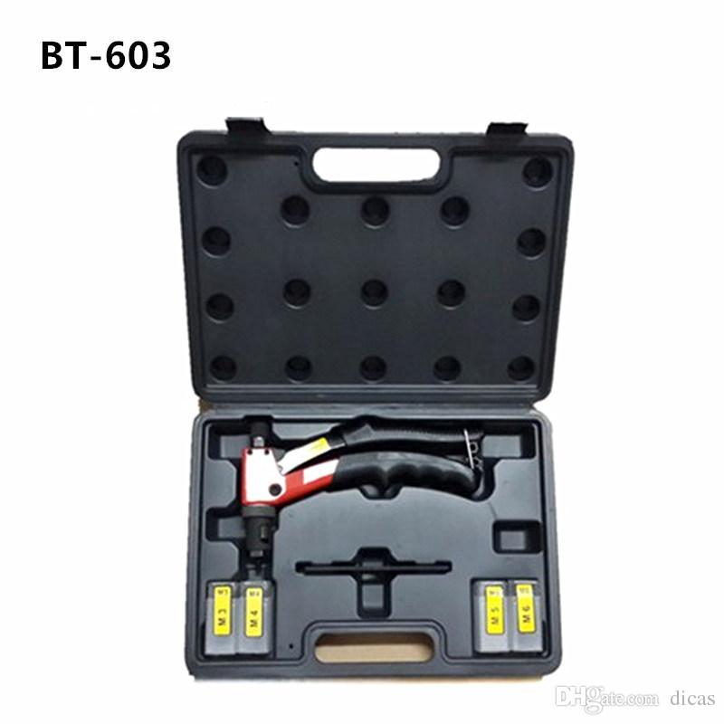 Ventes chaudes livraison gratuite 8 pouce 200mm main riveteuse pistolet à riveter outils de rivetage M3 M4 M5 M6 meurt BT603 boîtier en plastique packeage