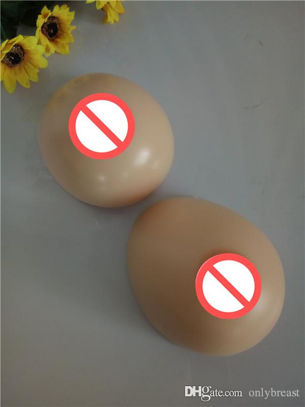 Hot selling realistic silicone fake breasts soft artificial boobs forms for man whole sale 500g-1600g full shape