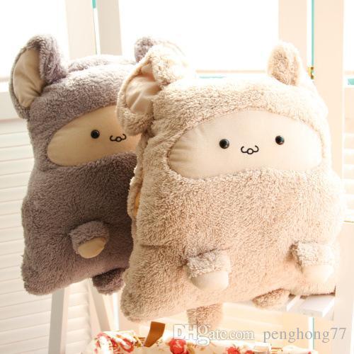 1016004 Pillow Blanket 3 In 1 Soft Plush Pillow Blankets Animal