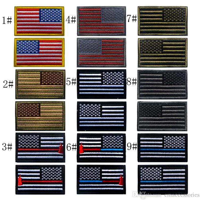 VP 178 Bundle Embroidered US Flag Tactical Patches Army Patch American Flag  MoralePatches 3D Tactical USA National Flag Badge UK 2019 From  Emaccessories 17715857dfbf
