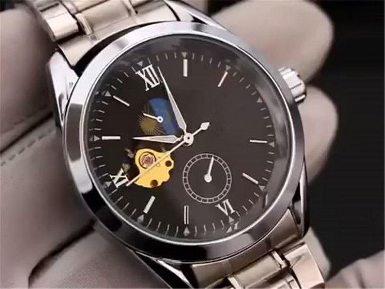 183795e5977 Swiss Top marcas Men s luxury transparente automático mecânico Movimento  relógio aço banda R 116675LN-78690