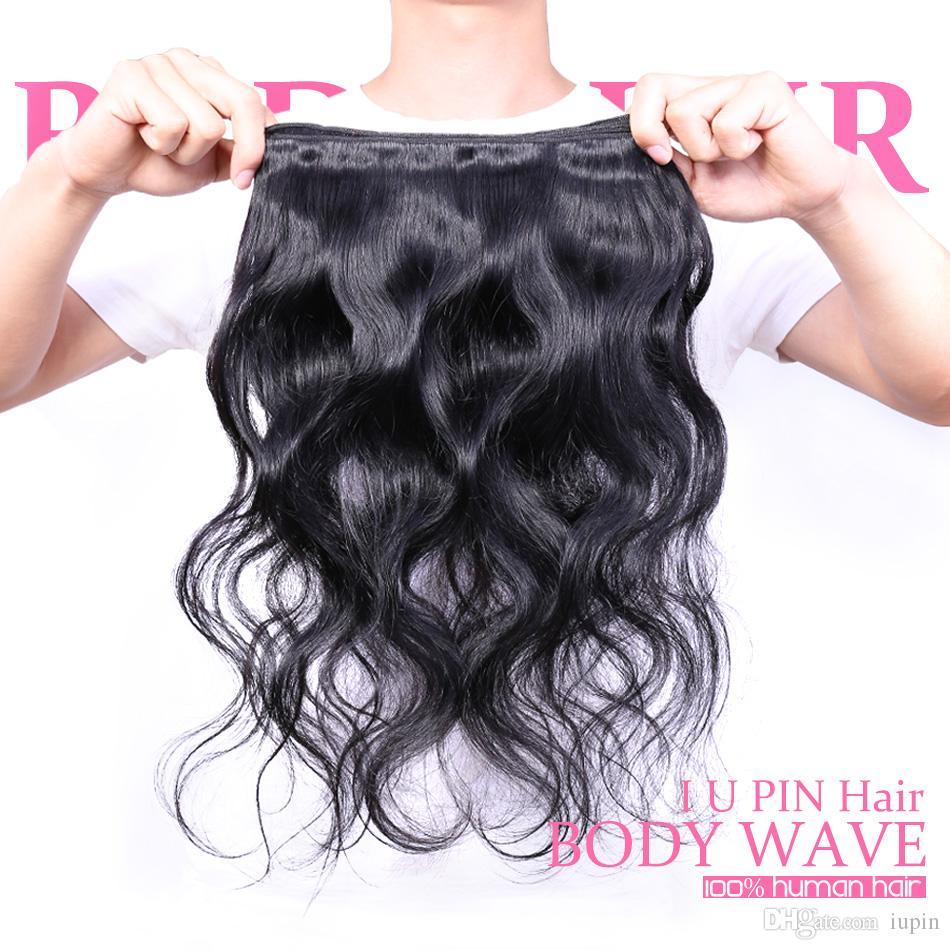 Toptan Perulu Vücut Dalga Remy İnsan Saç 4 Demetleri 100g adet Perulu saç Vücut Dalga Siyah Kadın Saç Satışa Güzellik Kaynağı Örgüleri