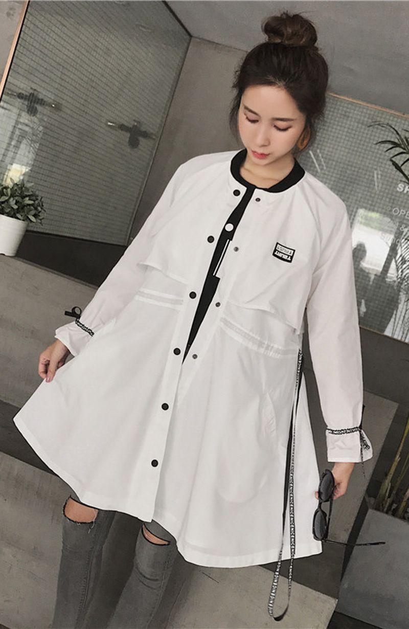 Cappotto cardigan a bottone lungo MD di alta qualità da donna Giubbotto di maternità maternità Taglia: L XL XXL DXW136