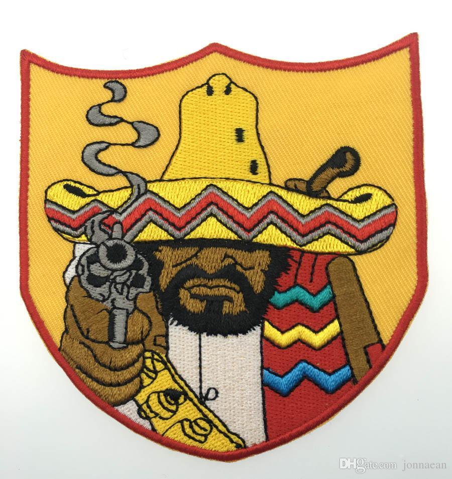 Hot Bandidos MC 프론트 자켓 Biker Patch IRON ON VEST LEATHER 4