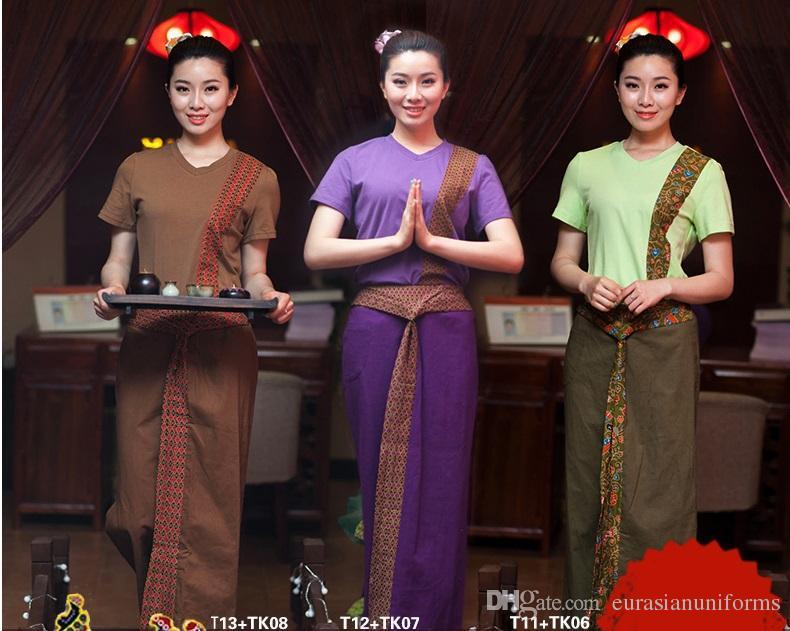 2019 wholesale female thai massage uniforms spa work wear for Uniform thai spa