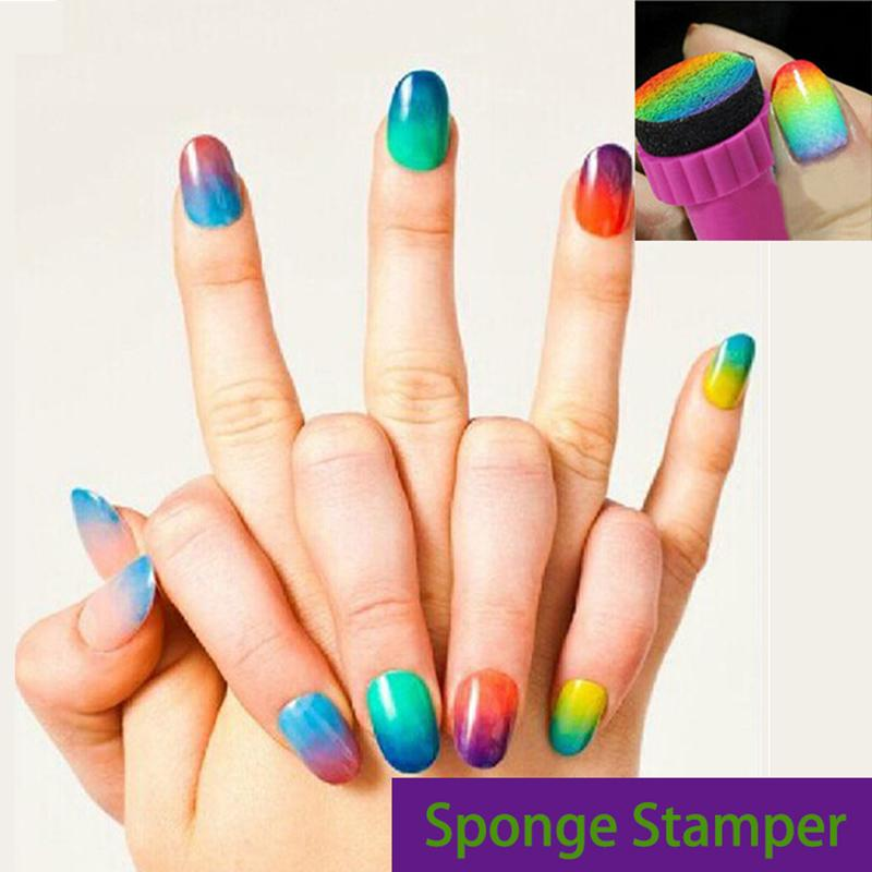 Wholesale Sponge Stamper Nail Art Buffers Diy Kit Nail Stamping ...
