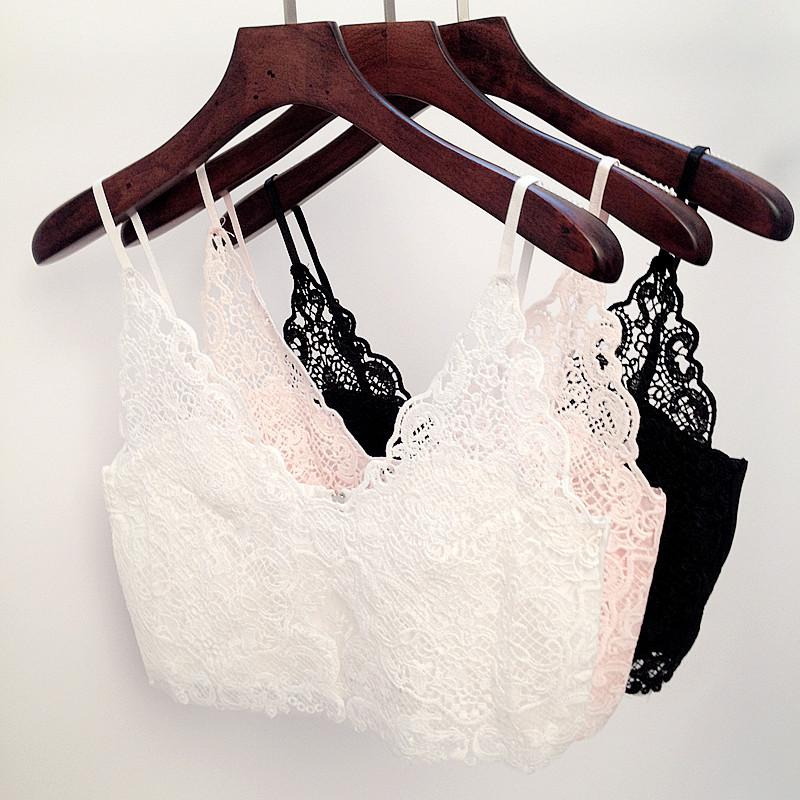 5f1fca2c0b3 2019 Wholesale Sexy Vintage Bustier Crop Top Crochet Lace Floral Tops  Hollow V Neck Bodycon Crop Camisa Tops Blouse Vest Camisoles For Women From  Derricky