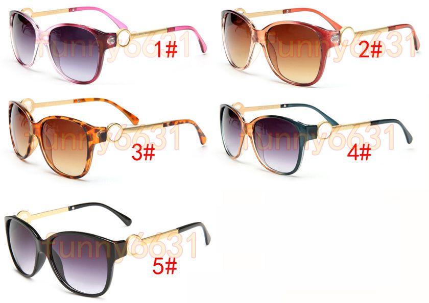 ÉTÉ lunettes en métal de luxe lunettes de soleil adultes dames marque Designer mode noir lunettes filles conduisant des lunettes de soleil A ++ livraison gratuite