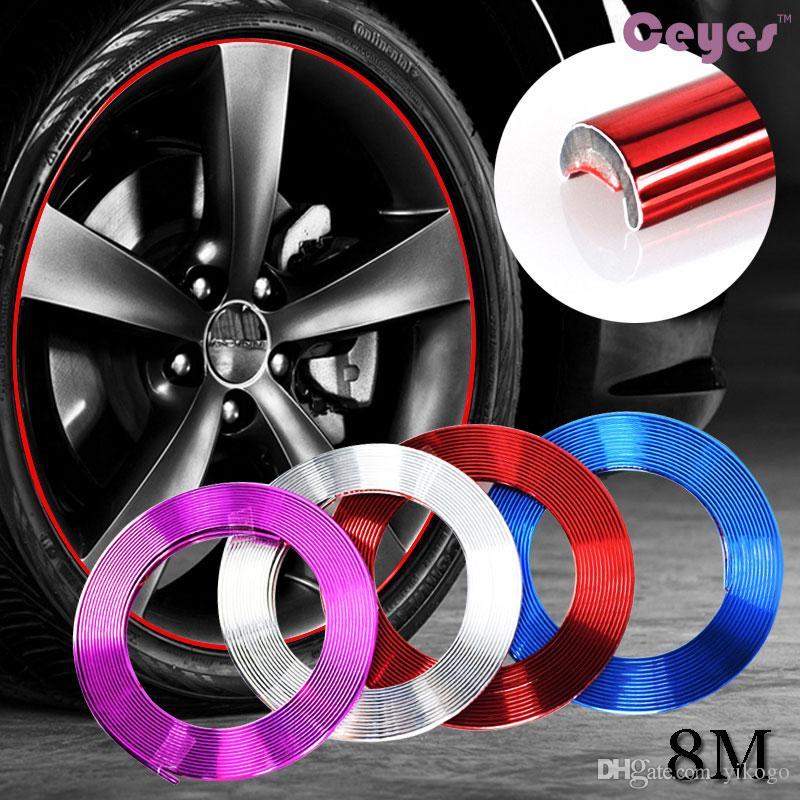 8M / Rolle Auto Radnabe Reifen Aufkleber Auto Dekorative für Mercedes W203 W210 W211 Auto dekoration aufkleber Auto Zubehör Styling