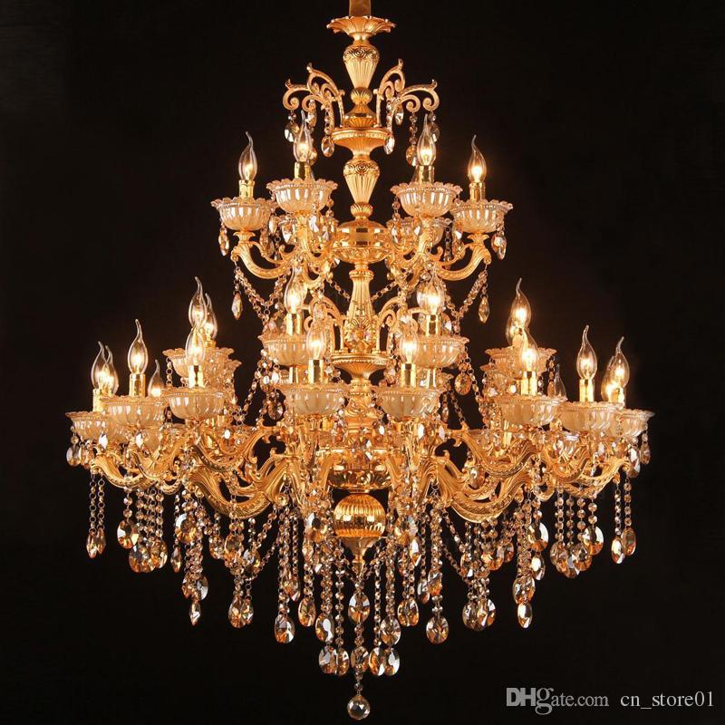 Upscale Lighting Fixtures: Luxury Project Lighting Chandelier Light Fixture Golden