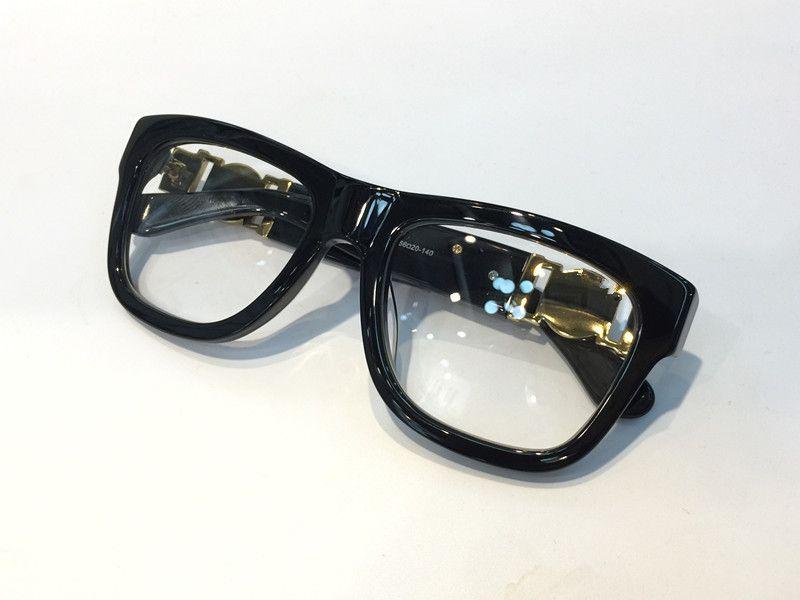 الفاخرة مصمم النظارات وصفة النظارات 426 النظارات خمر الإطار الرجال الأزياء النظارات مع الحالة الأصلية الرجعية مطلية بالذهب