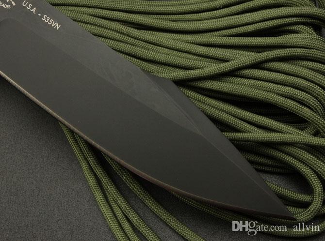 Лучшее качество Spartan выживание прямого нож 7Cr17 58HRC Черного Клинок Открытый Отдых Туризм Охота Фиксированный нож Ножи с розничной коробкой