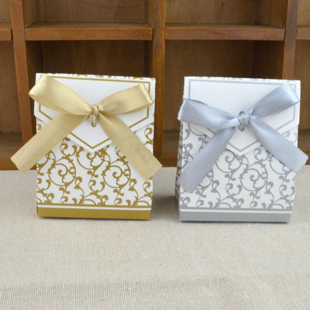 Gold Silver Chocolates Cookie Candy Box Wedding Favors Decor Diy ...