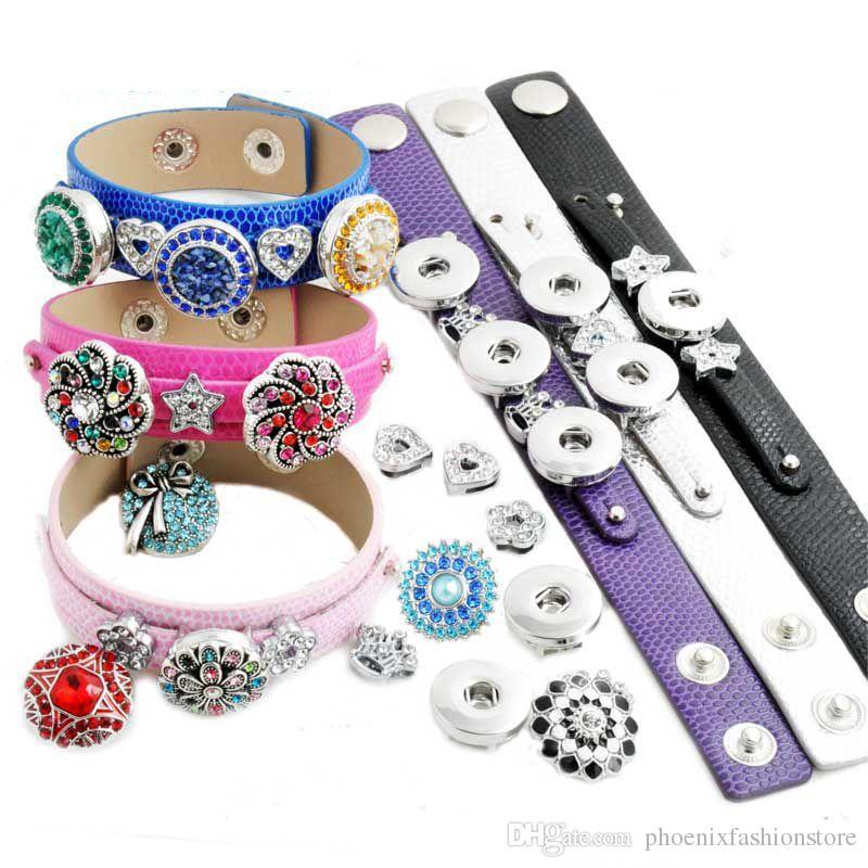 Zencefil Çırpıda Takı Değiştirilebilir DIY Takı 18mm Tıknaz Düğme Takı Metal Snap Düğmesi Bilezik Kolye Aksesuarları 50 adet
