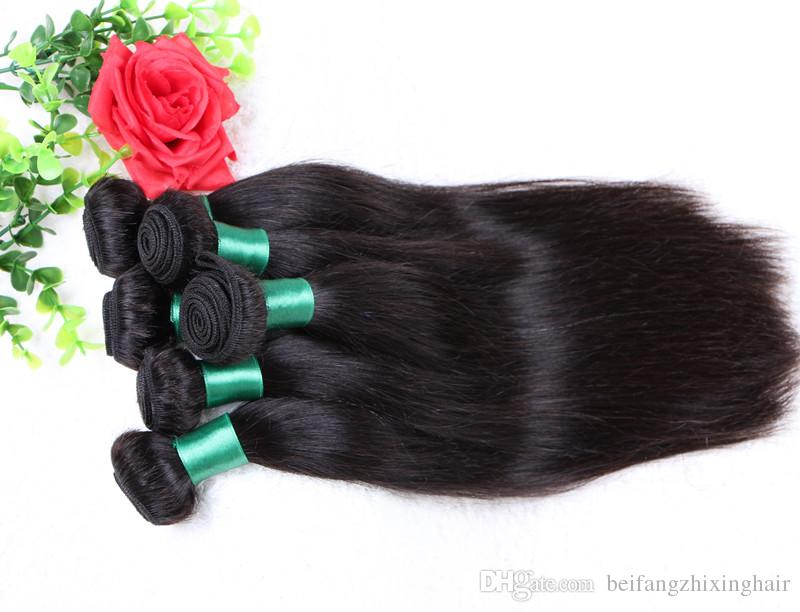 Grade 5A Top Quality--100% Human Indian Hair Straight Double Weft 50g/pc& free DHL