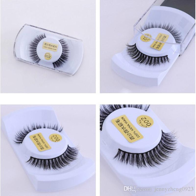 100% handmade real mink false eyelash 3D strip mink lashes thick fake faux eyelashes Makeup beauty