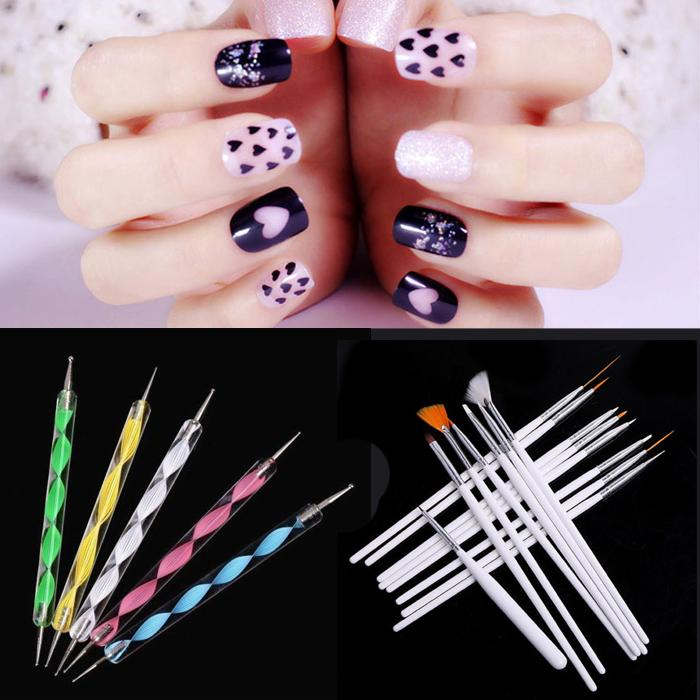 Wholesale- Nail Art Pen Set Painting Dotting Drawing Brush Detailing ...