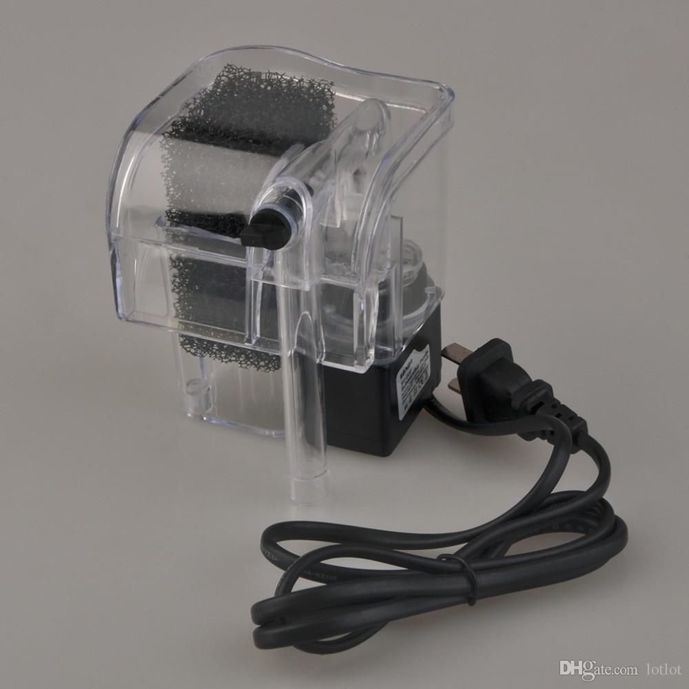 SY-G02 Tank de poisson Filtre externe 220-240V Tantuel de tortue de poisson Aquarium Pompe à oxygène externe Cascade Filtre Mini Aquarium Power Filtrer US Plug